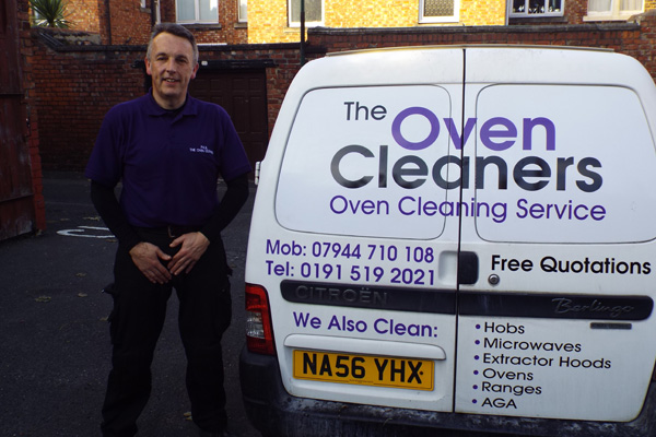 The Oven Cleaners Car with man