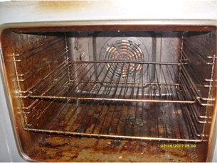 Baking Oven before cleaning